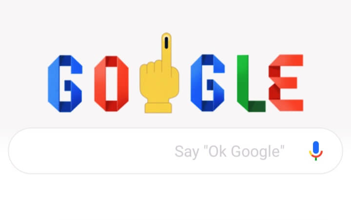 Lok Sabha Election 2019 Google Doodle, freshnew.in